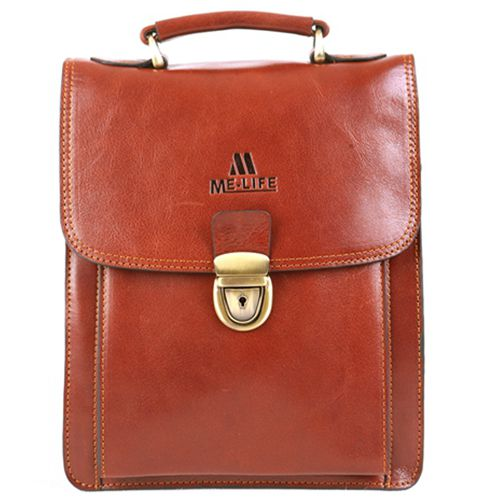 leather briefcase-Brown
