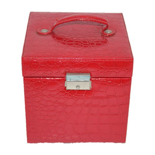FY-01 handmade Deluxe leather jewelry box& cosmetic box