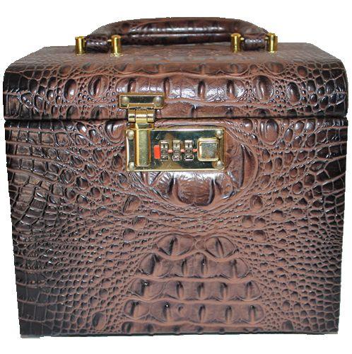 1603-2308 crocodile grain leather multipurpose gift packaging boxes custom luxury jewelry box