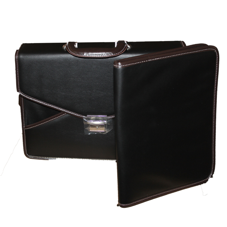 1401-530A PVC Leather briefcase with file folder A4