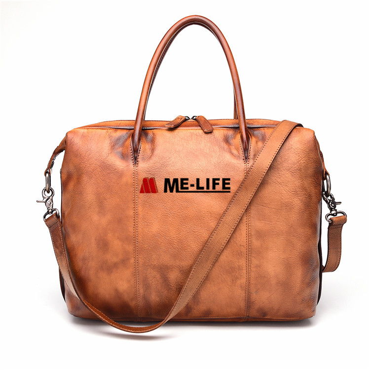 1818-596 Vintage Handmade Leather Messenger Shoulder Bag Tote