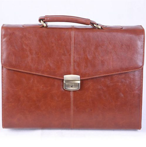 PU briefcase-brown