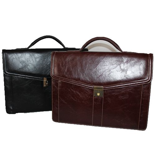 9201B-669 Melife leather PU 2 gusset briefcase