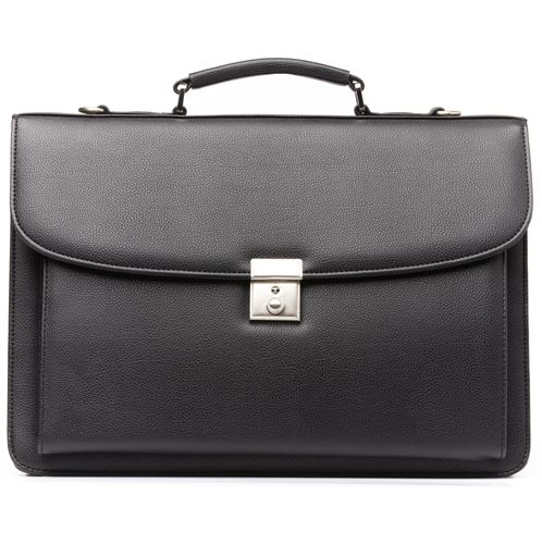 9206-729 Melife leather PU 2 gusset briefcase