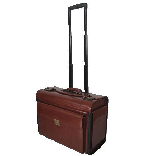AB003 bonded leather pilot case with two end pockets