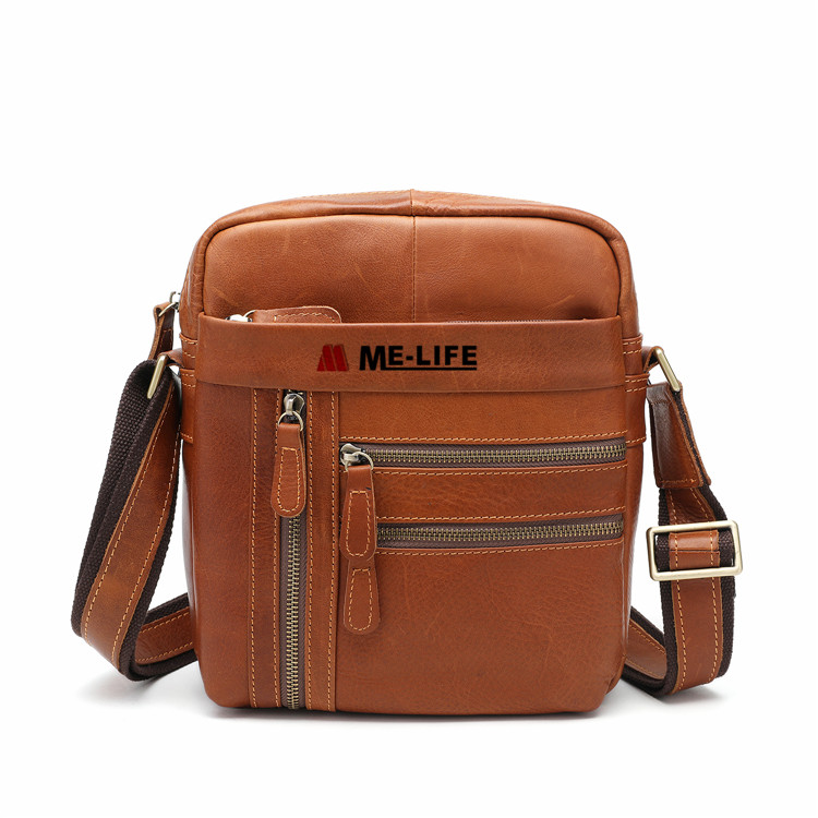 1818-2065 brown leather man's bag citybags shoulder bag