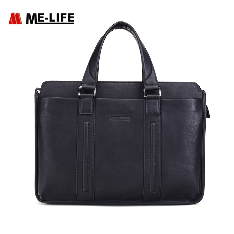 1743A-748 leather PU laptop bag 15.6 briefcase business case