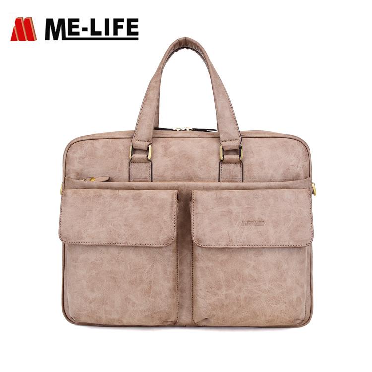 1743C-523 15.6 inch computer handbag large capacity messenger laptop bag with strap travel laptop br