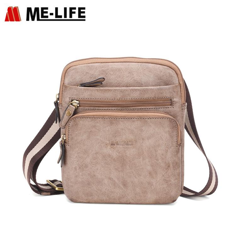 1743C-524 men leather PU shoulder bag messenger bag cross body bag sling bag