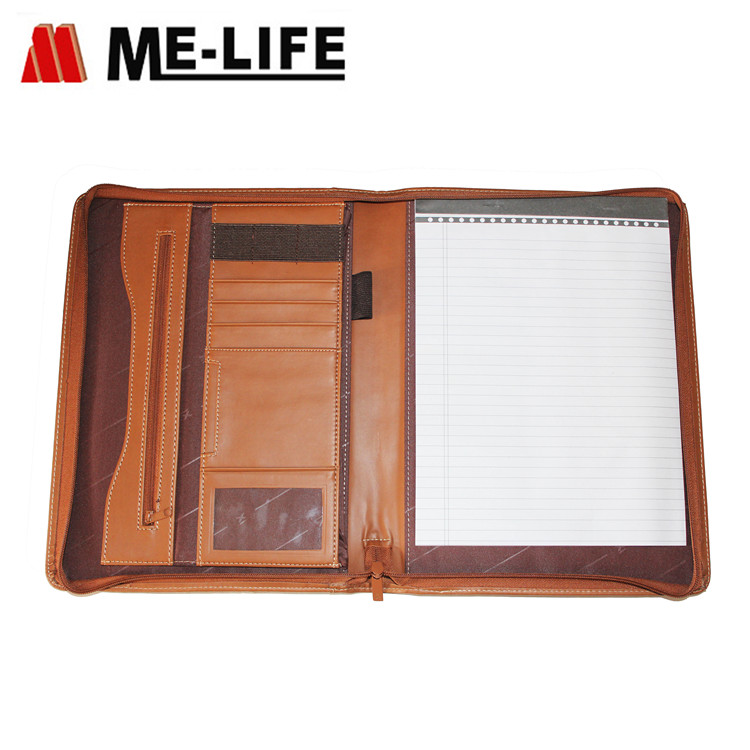 1733-1391A leather file folder for business card holder A4 padfolio