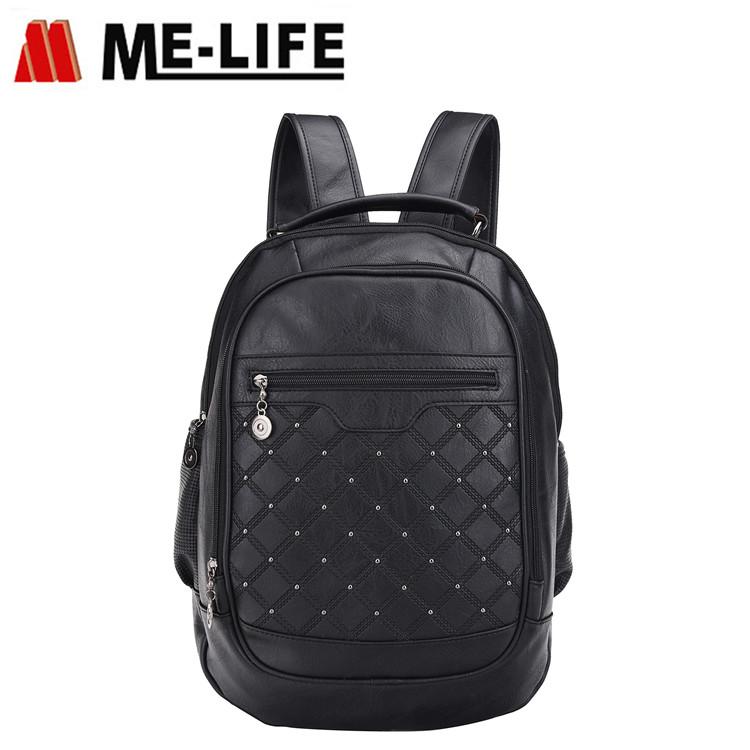 1773-05 Women leather backpack shoulder bag travel daypack for girls