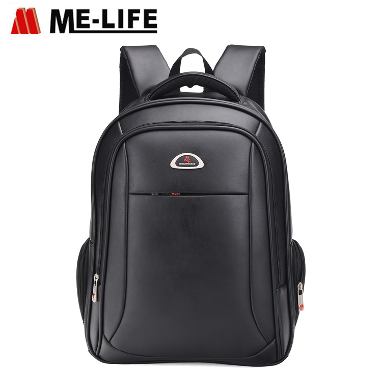 1772B-01 Leather backpack 17.5 inch business school book bag laptop computer bag traveling bag