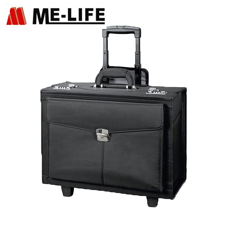 D1-807AT carry-on pilot case briefcase with wheels