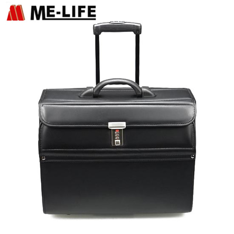 D13-905 wheeled luggage pilot case trolley suitcase