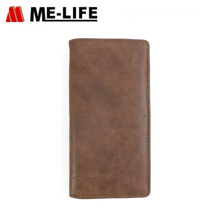 1656-31 PU leather wallet with coin collecting zipper lateral wallet