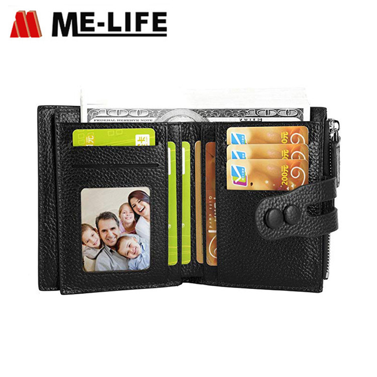 11002193-1 PU leather small women wallet with 9 card slots