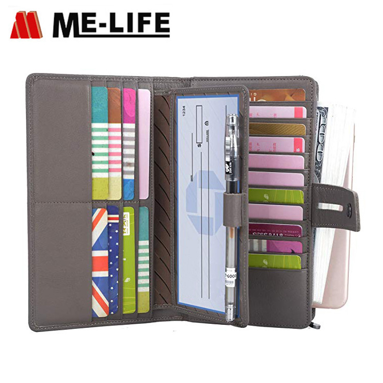 B07B9SX363 PU leather travel women wallet with slots for cards
