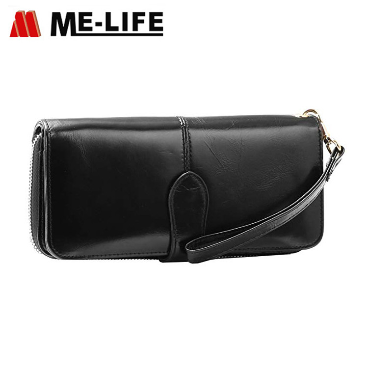 C007-E-CL zipper wallet can hold iphone
