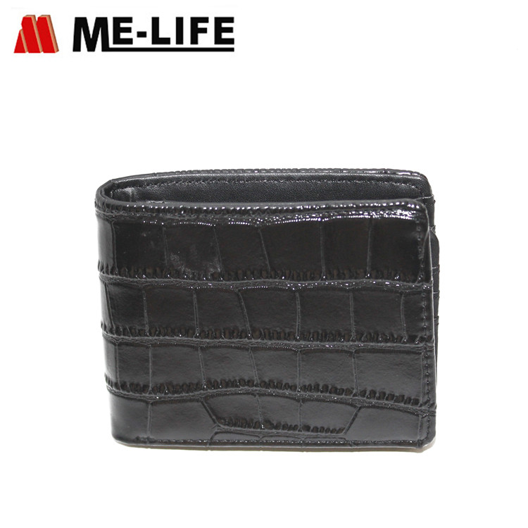 D-34 Crocodile leather small wallet with coin pocket