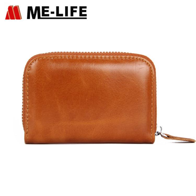 FQ666 mini leather PU zipper coin wallet
