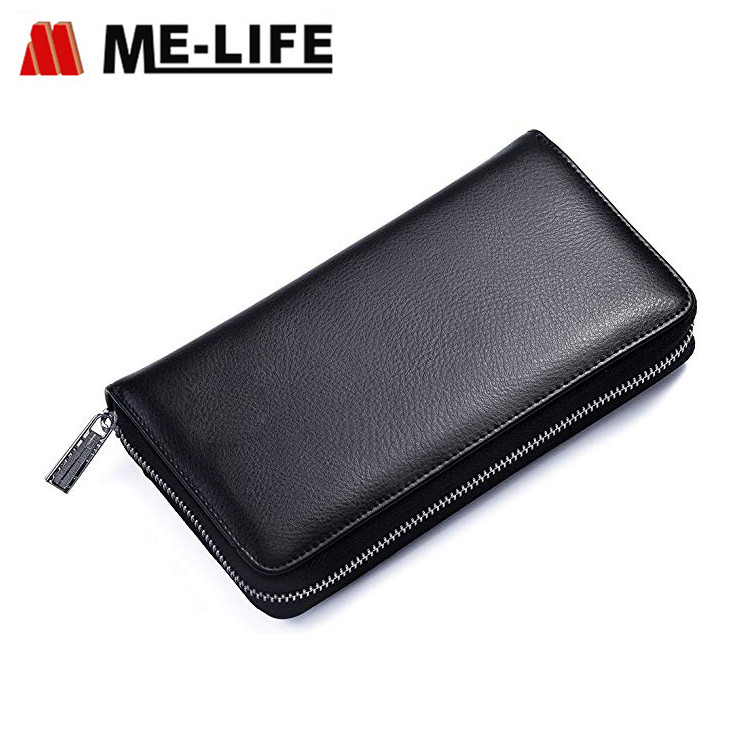 KB36-H large lateral card holder with slots zipper card organizer