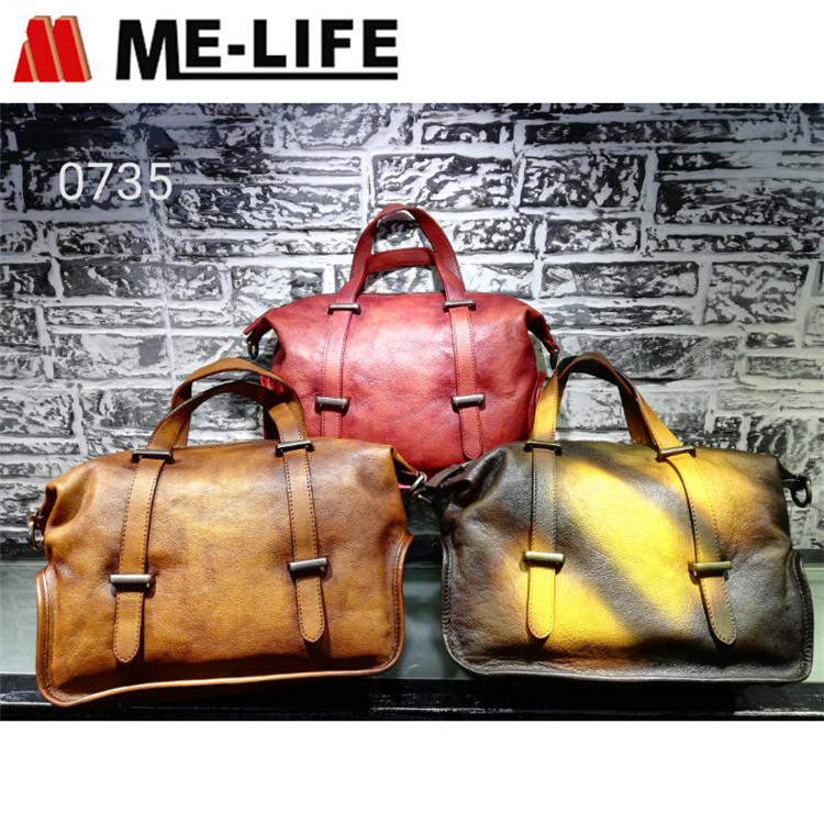 0735 genuine leather handbag with large capacity