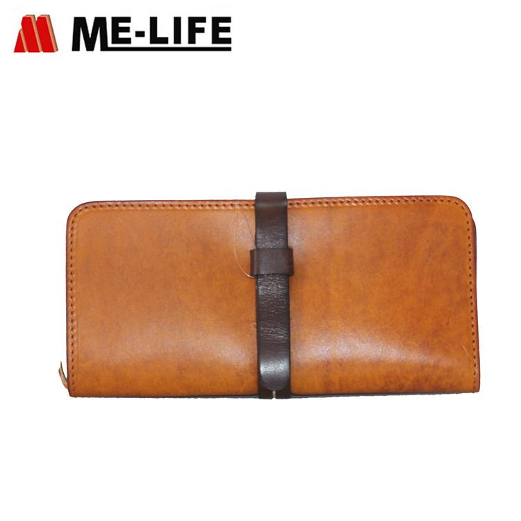 Q407 cow leather women wallet