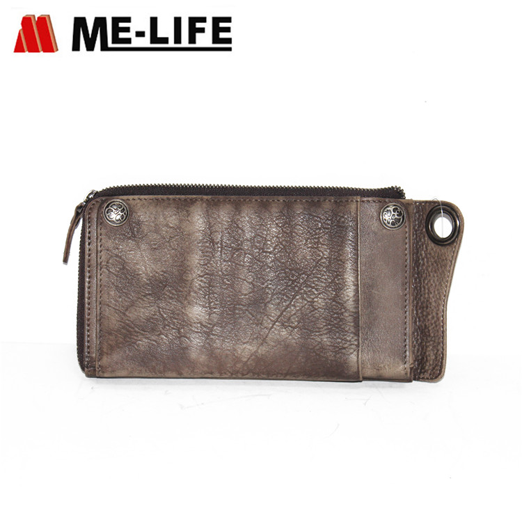 W8180 genuine leather travel wallet phone case