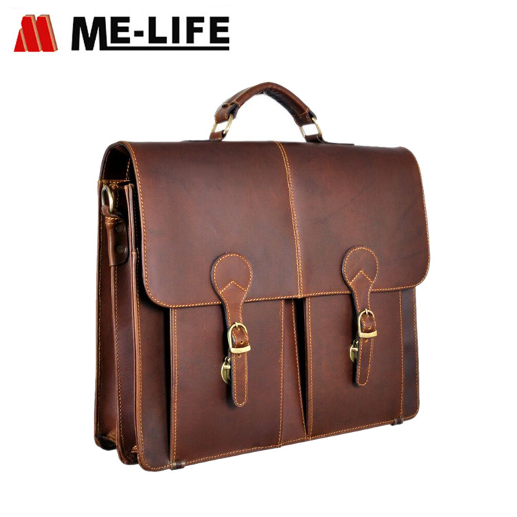 new genuine leather briefcase