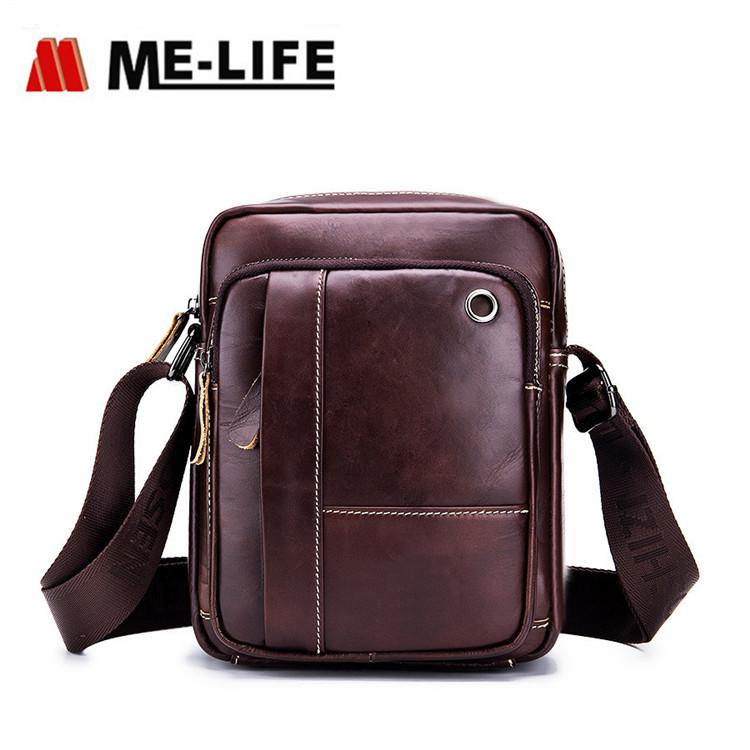 popular leather message bag