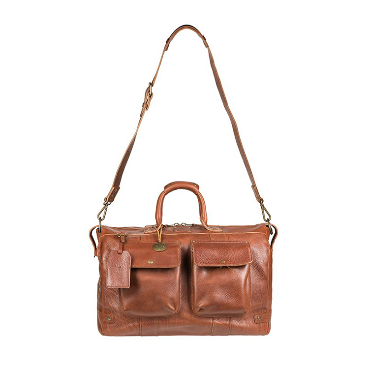 Genuine leather luggage bag
