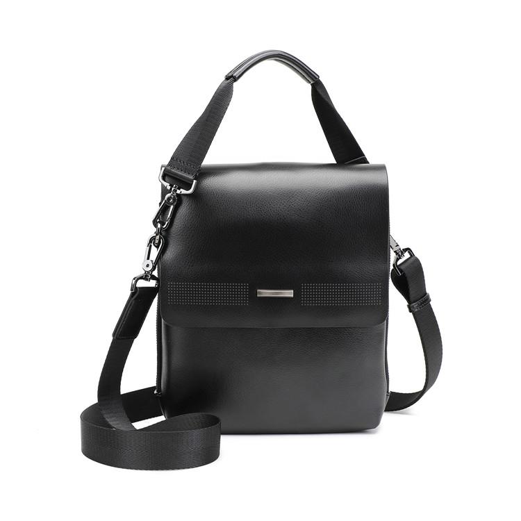 1918-52 PU shoulder bag with split leather trimming
