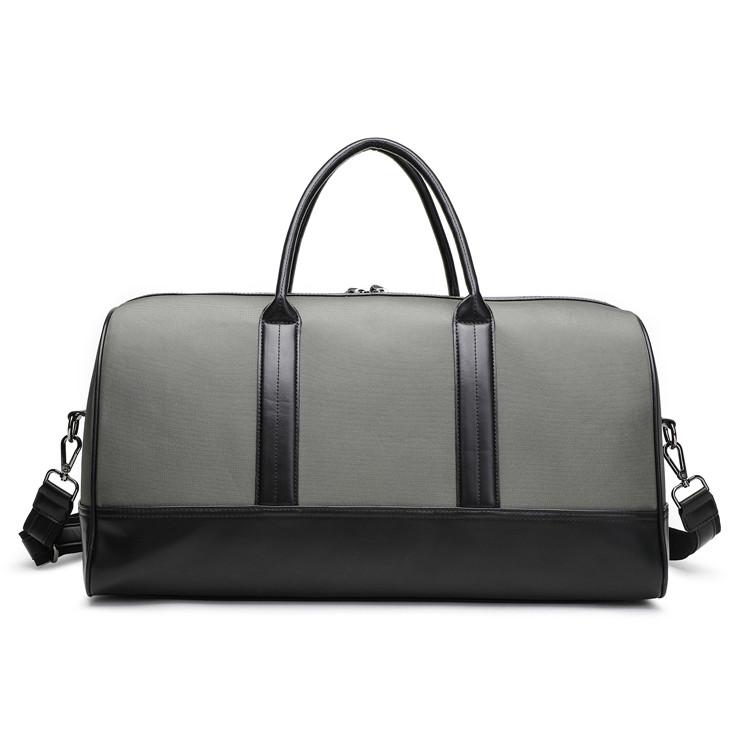 1843-YM02 overnight duffle PU trim travel luggage bag