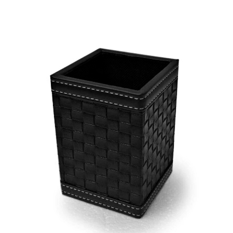 Stroage box Black Leatherette Cabinet Office Supplies Desk Storage Organizer Box