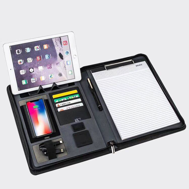 Zippered Padfolio w.Power Bank